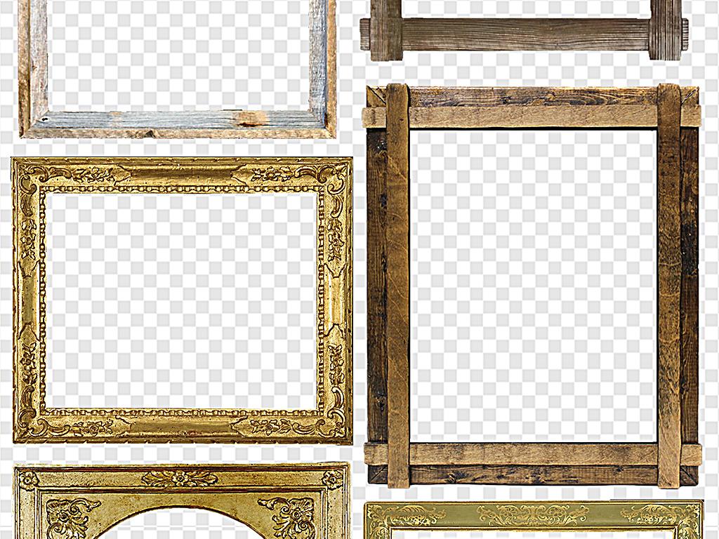 古典花边相框边角                                  实木边框