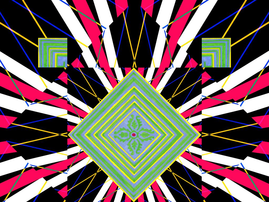 镜像几何图案图片