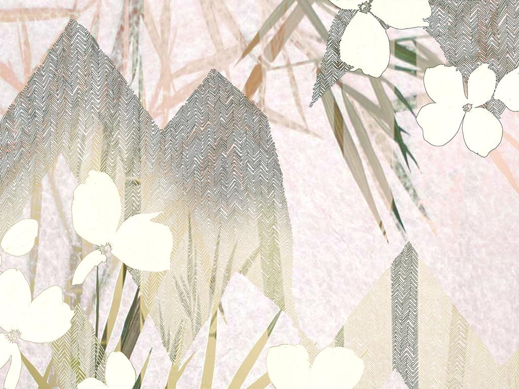 古风禅意植物图案
