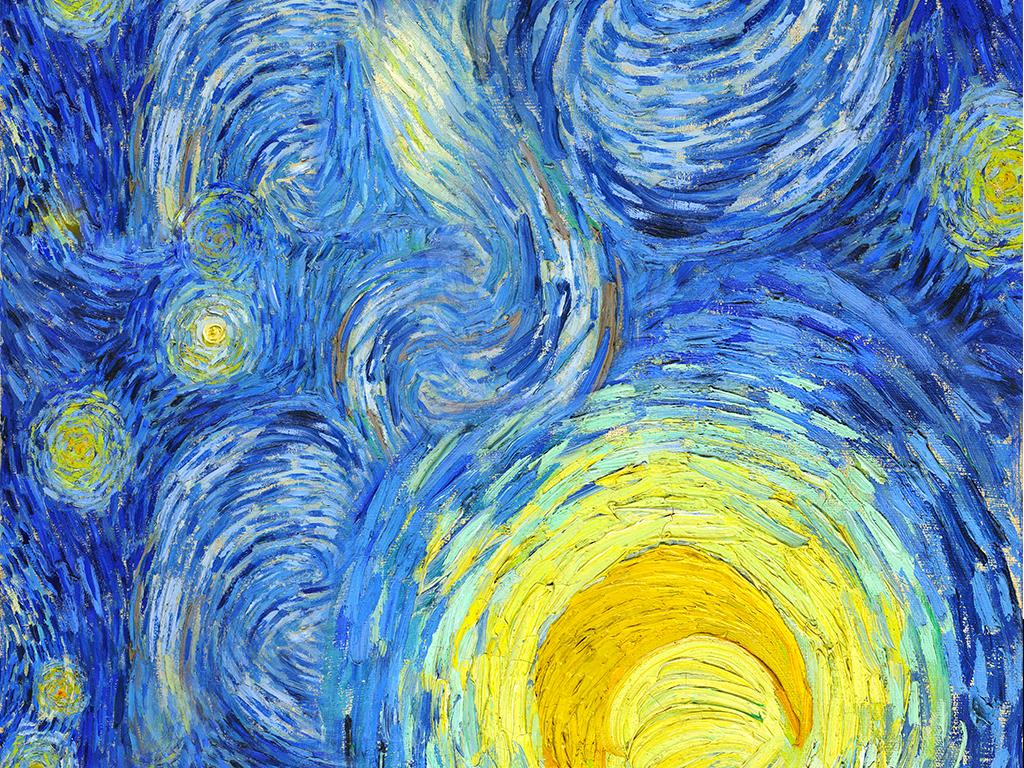 抽象超清梵高 星空 加宽版天顶壁画