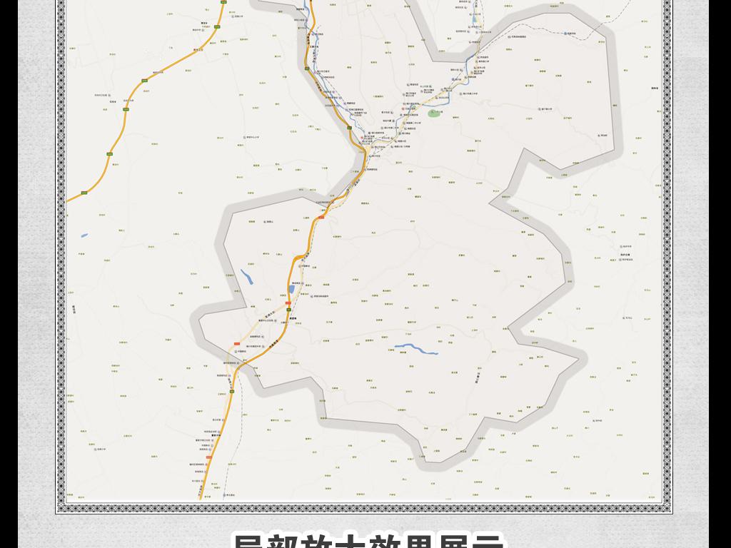 高清铜川市王益区地图