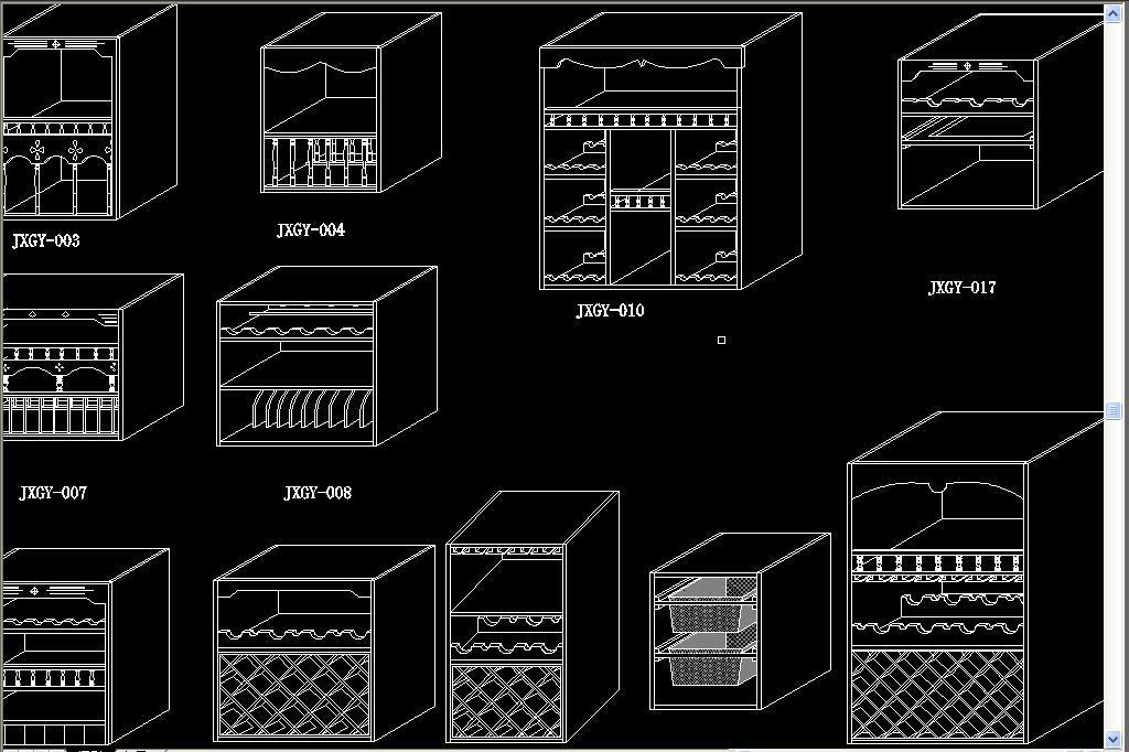 cad图库 全屋定制cad图纸 cad图纸 > 实木橱柜结构图库  素材图片参数