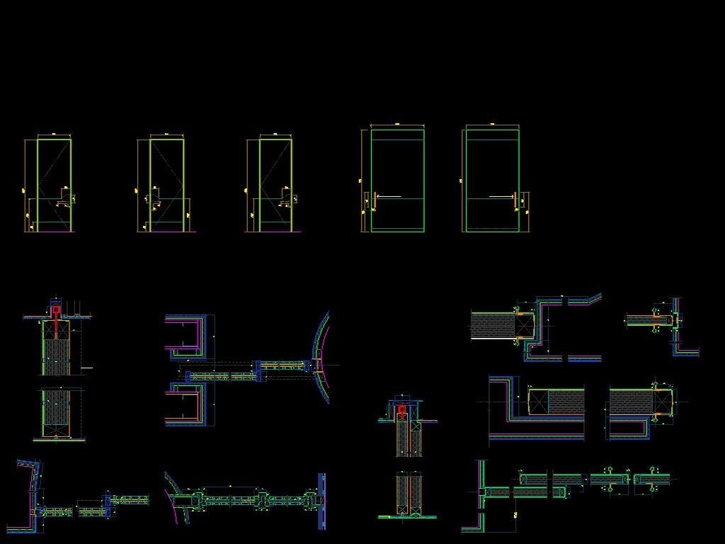 中餐厅CAD全套平面设计图