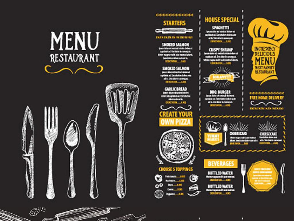 菜单肯德基饭店蛋糕甜品店菜单菜单设计菜单模板菜单封面西式菜单设计