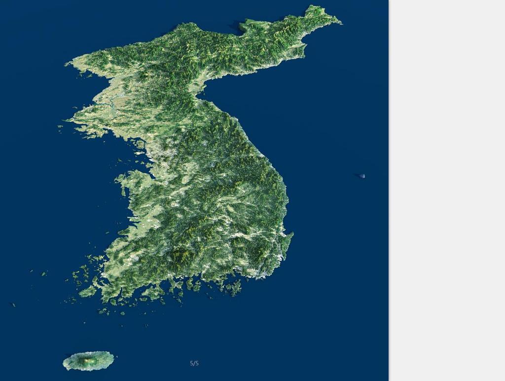 朝鲜半岛地图3d地形图