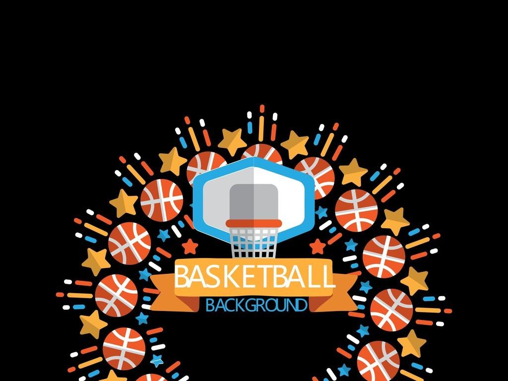 篮球海报背景素材