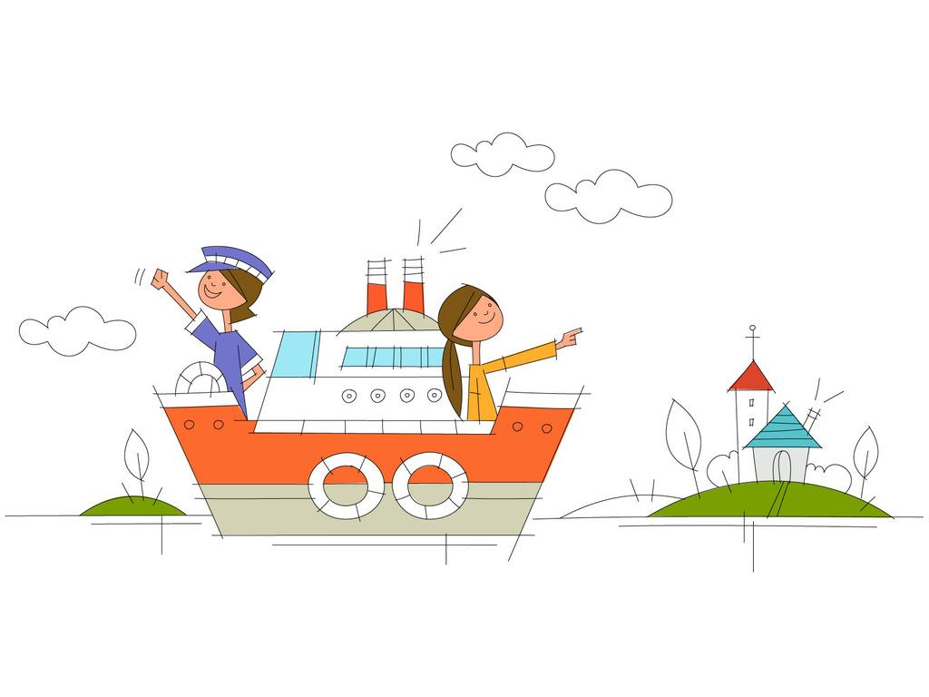 设计元素 背景素材 其他 > 手绘可爱儿童卡通简笔画矢量图7