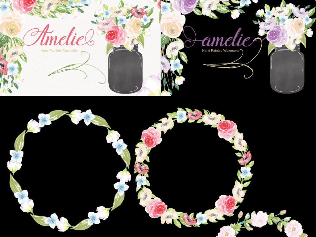 组合画素材花卉手工花卉植物植物素材植物花卉手绘素材植物手绘艺术