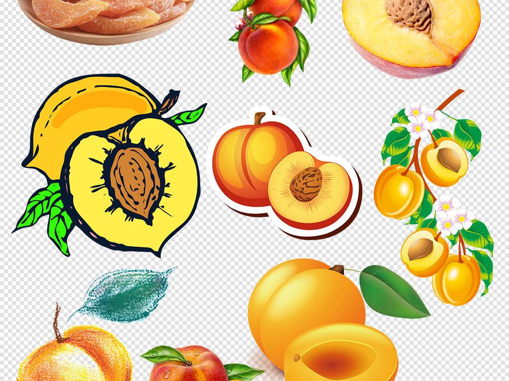杏树手绘杏子新鲜杏子淘宝水果海报