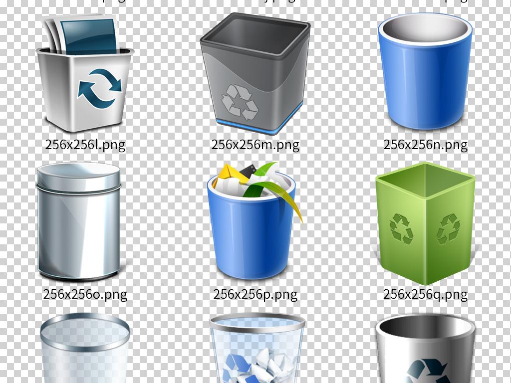 设计一套分类垃圾桶图案