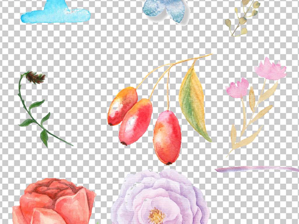手绘手抄报装饰元素树叶花纹边框插画鲜花花草花草边框边框装饰png