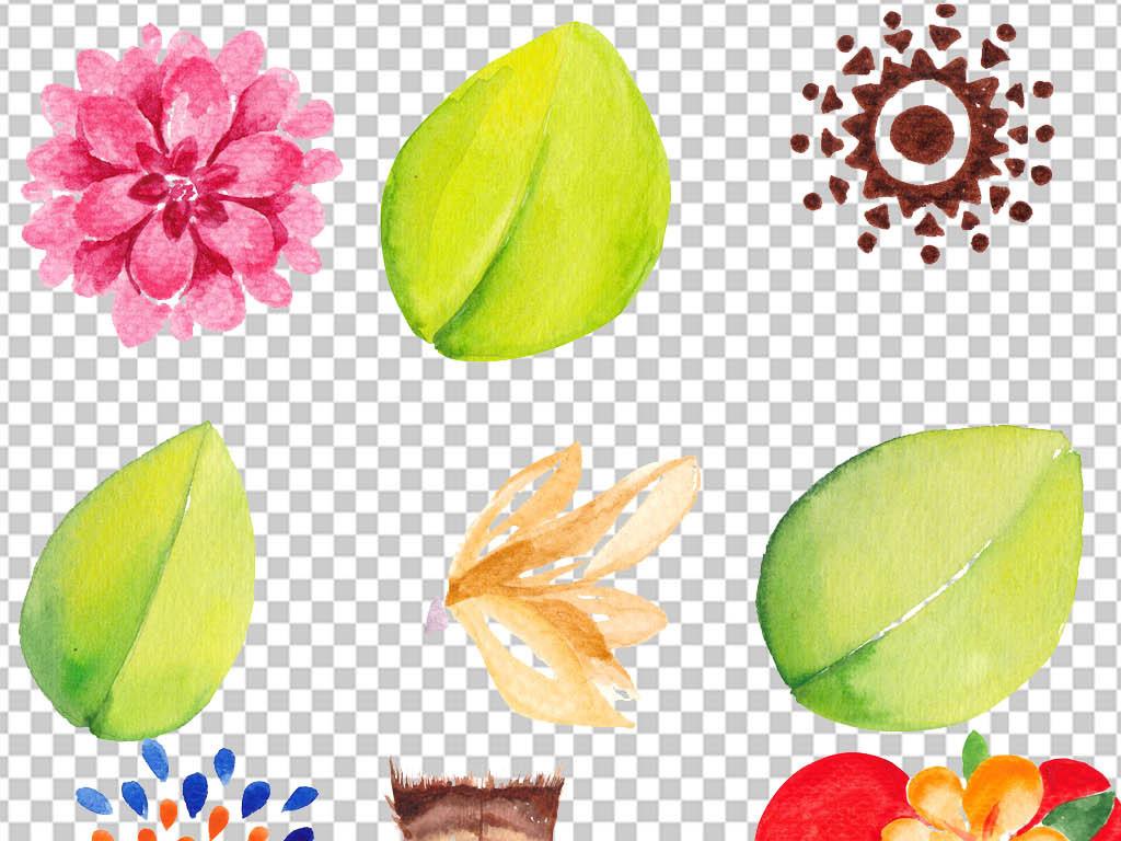 手绘手抄报装饰元素树叶花纹边框插画鲜花花草花草边框边框装饰鲜花装