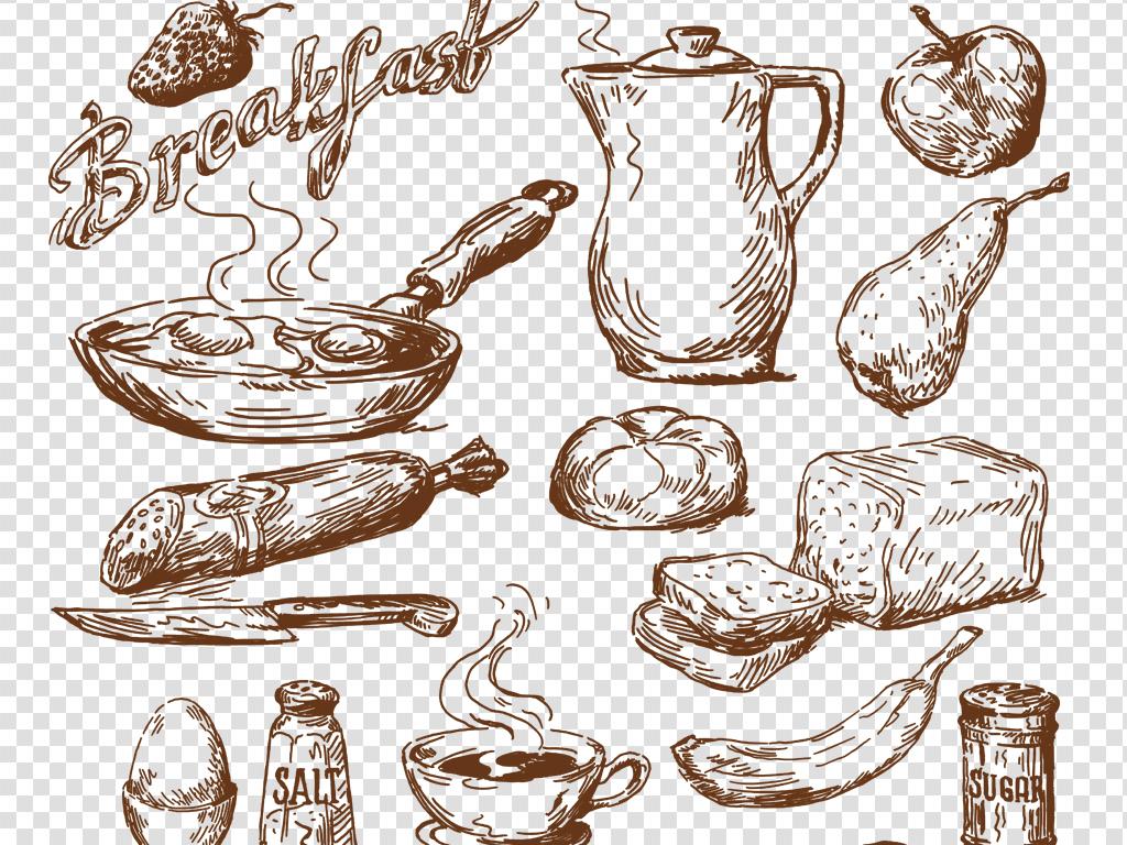 西点素材甜点素材手绘食品png免扣素材