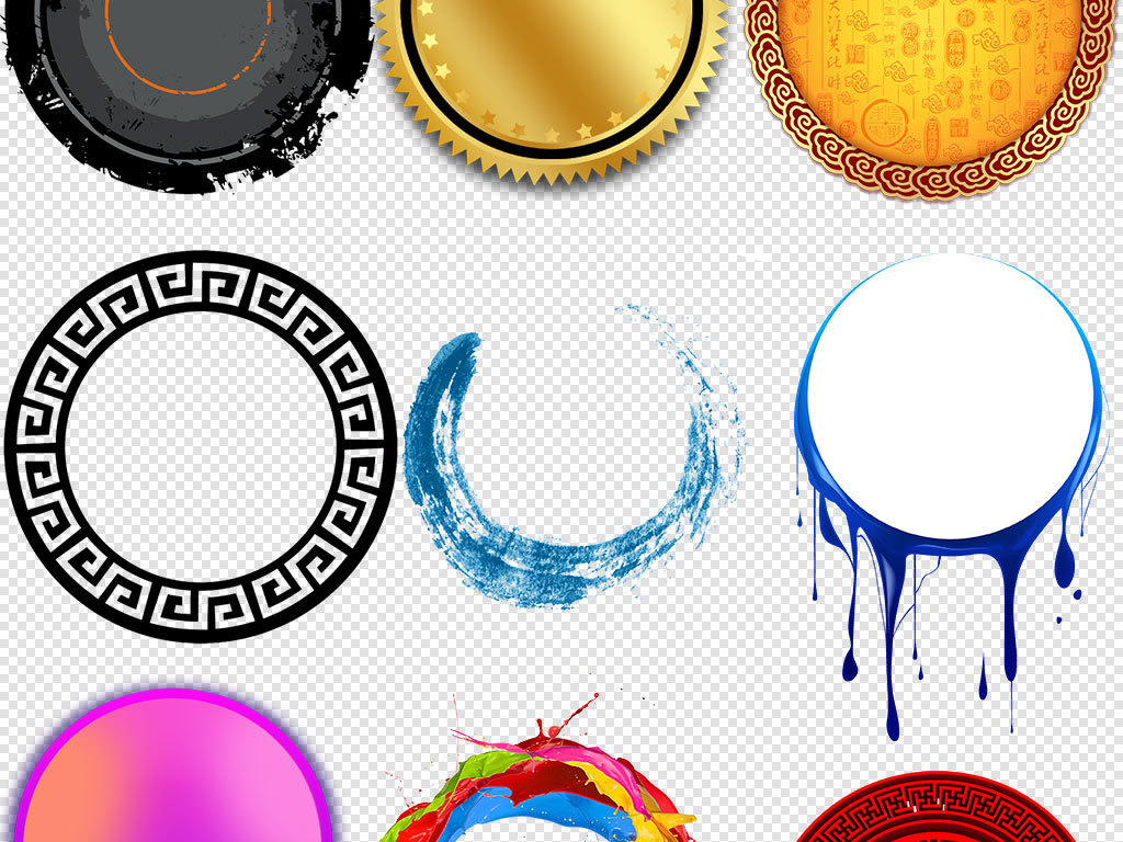 圆形边框圆圈设计圆形手绘图片圆形图案花边圆形花边圆形图圆形标志