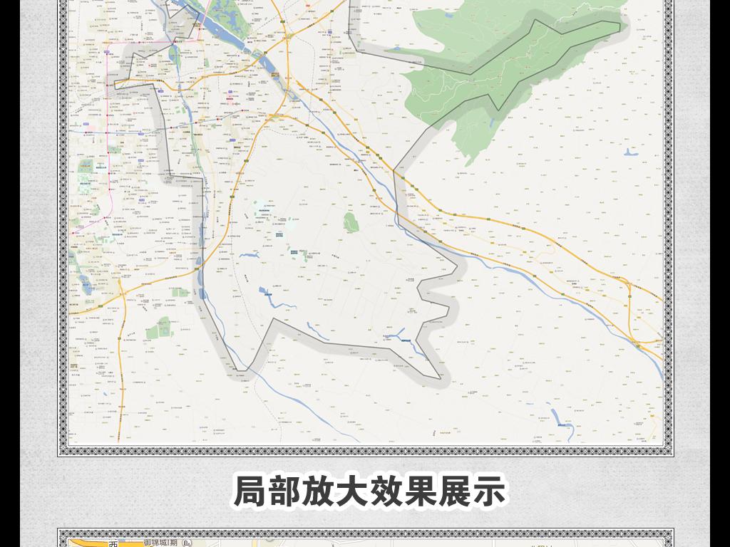 高清西安市灞桥区地图