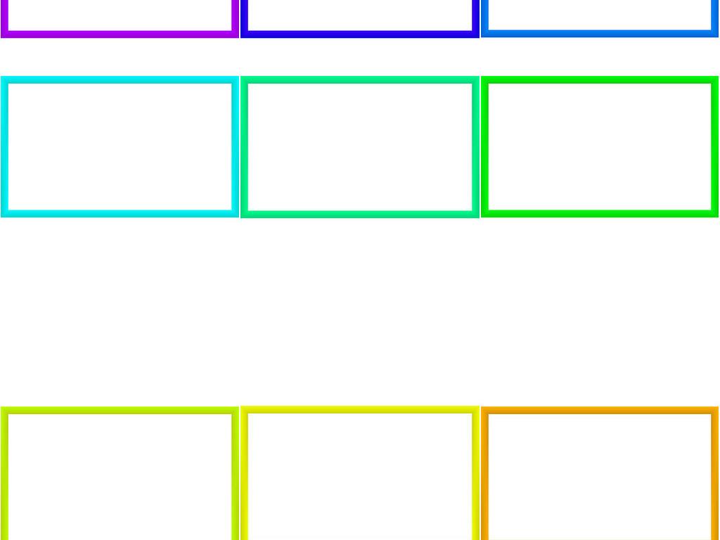 长方形框设计素材集合4图片