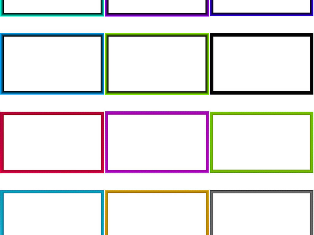 手抄报长方形边框彩色边ps素材3