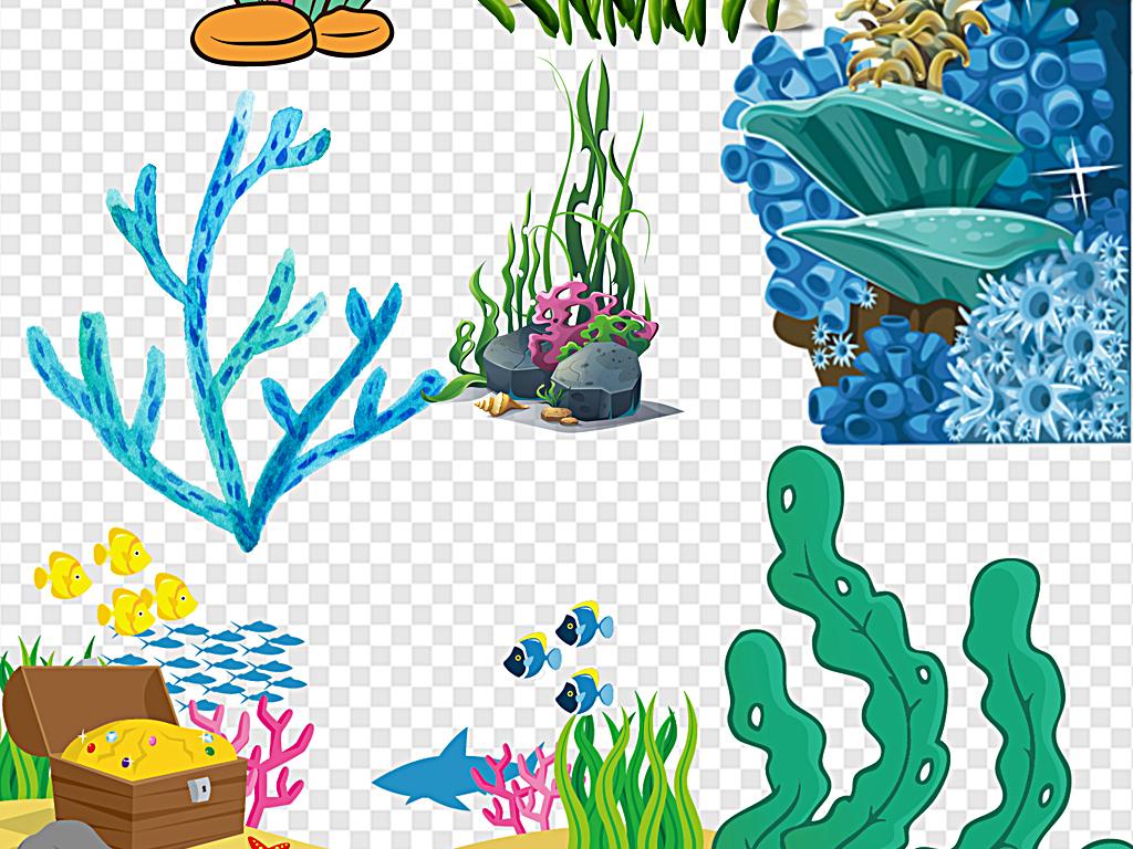 卡通海底手绘海底手绘海洋卡通手绘海洋卡通
