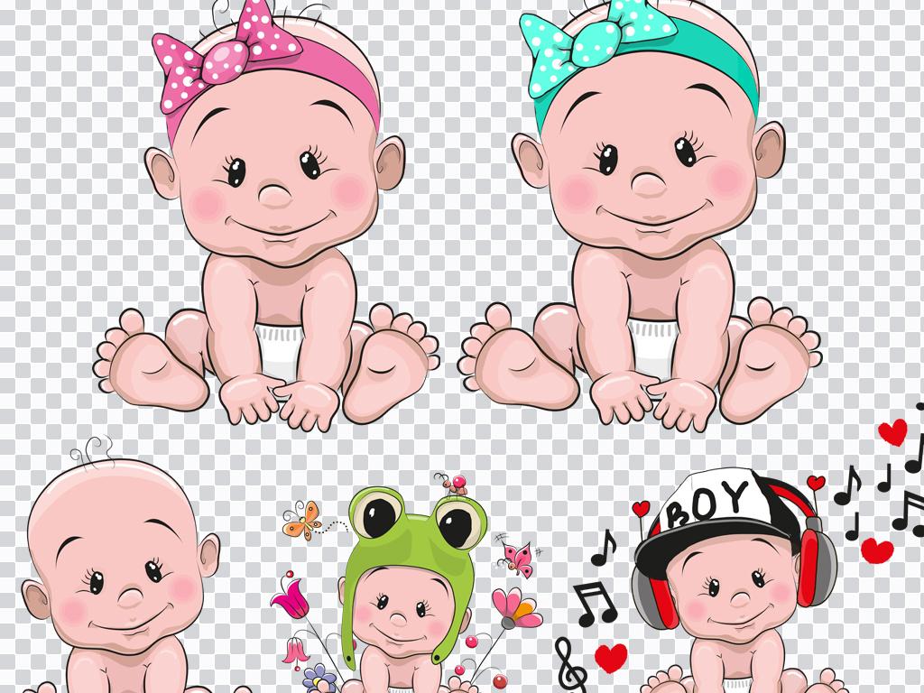 可爱手绘人物png婴儿婴儿用品婴儿图婴儿广告卡通