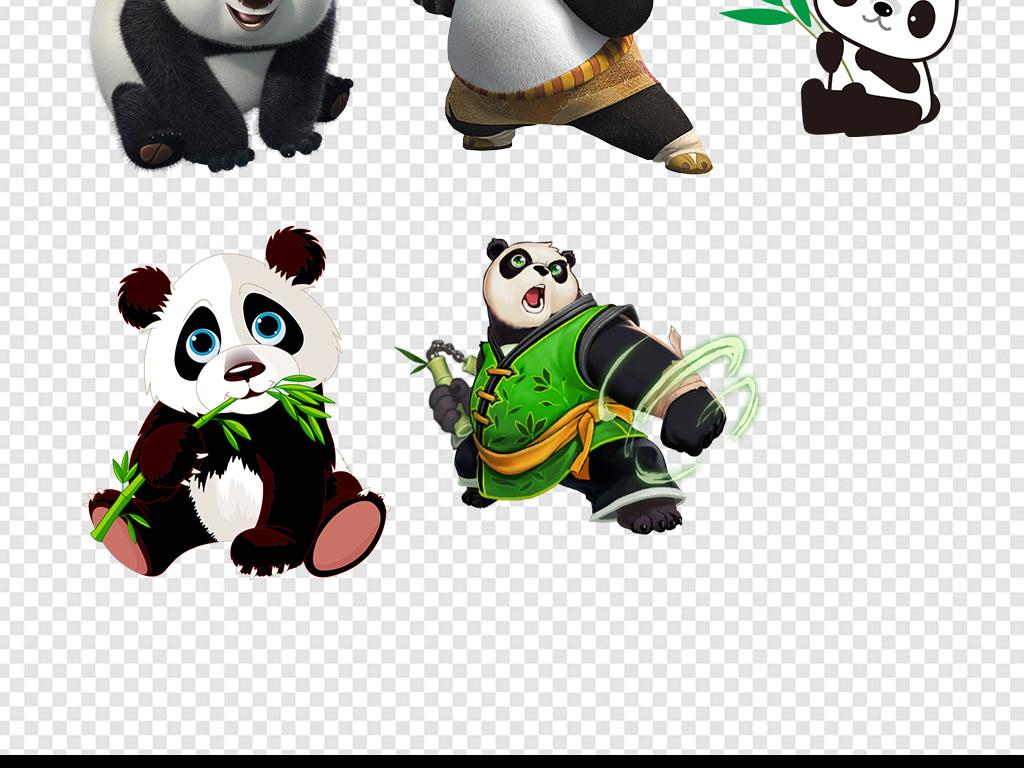熊猫简笔画大全带颜色