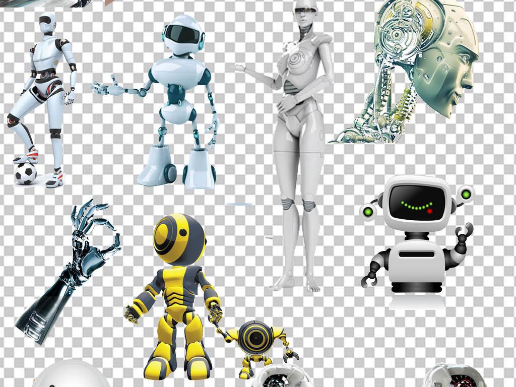 人工智能机器人蓝色科技it信息png免扣图片