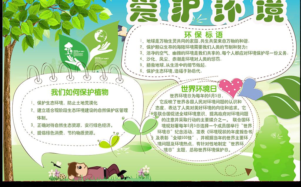 环保手抄报 保护环境手抄报 > 保护环境手抄报爱护环境小报  素材图片