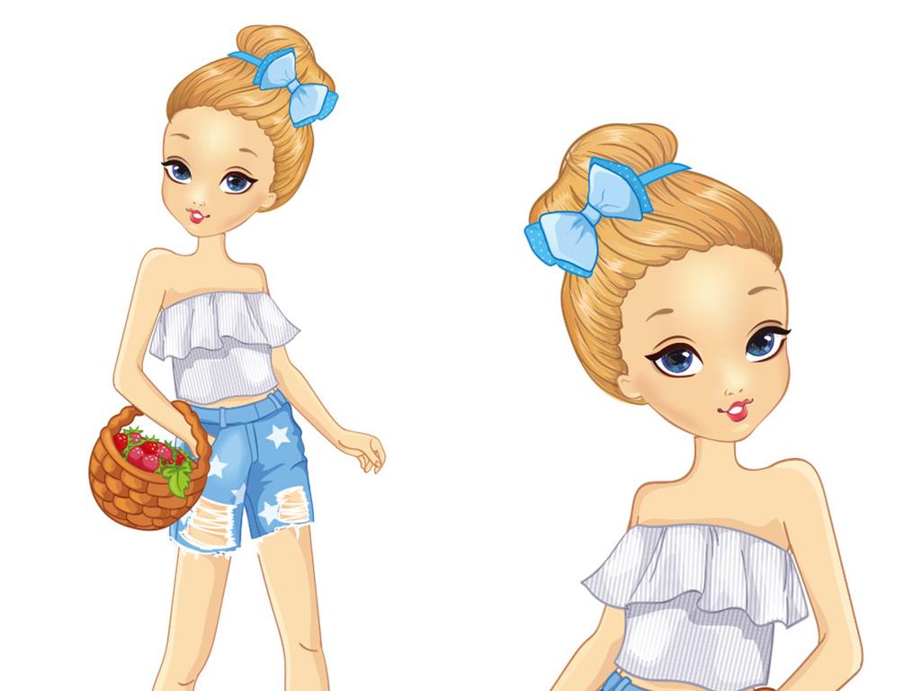 设计元素 人物形象 美女 > 卡通可爱女孩  卡通可爱女孩图片素材参数