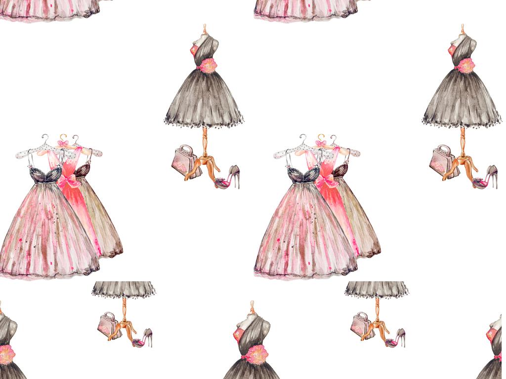 手绘连衣裙裙子裙子矢量素材灰姑娘手绘效果图手绘风景手绘人物手绘设