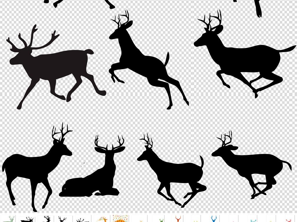 卡通小动物动物元素动物png卡通动物手绘卡通小鹿