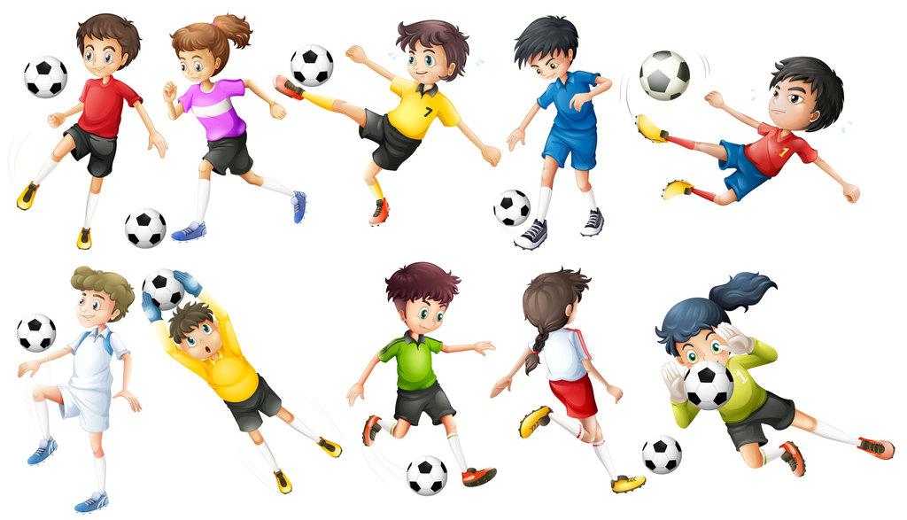 小孩踢足球体育竞赛儿童学足球卡通图片素材 模板下载 4.74MB 儿童大全 人物形象