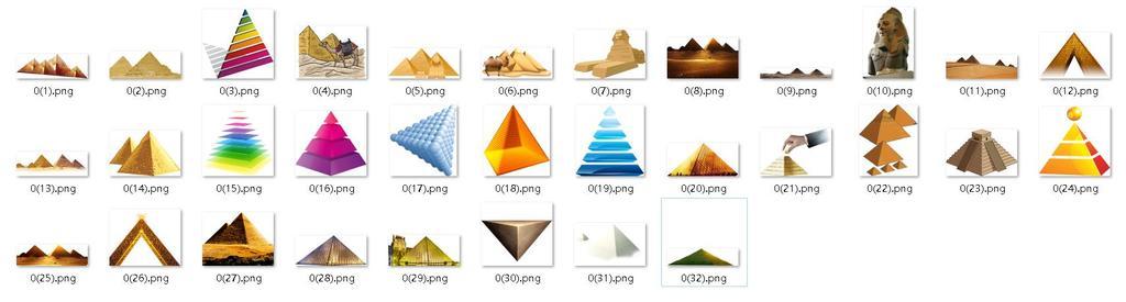 卡通金字塔手绘金字塔ppt图表地产