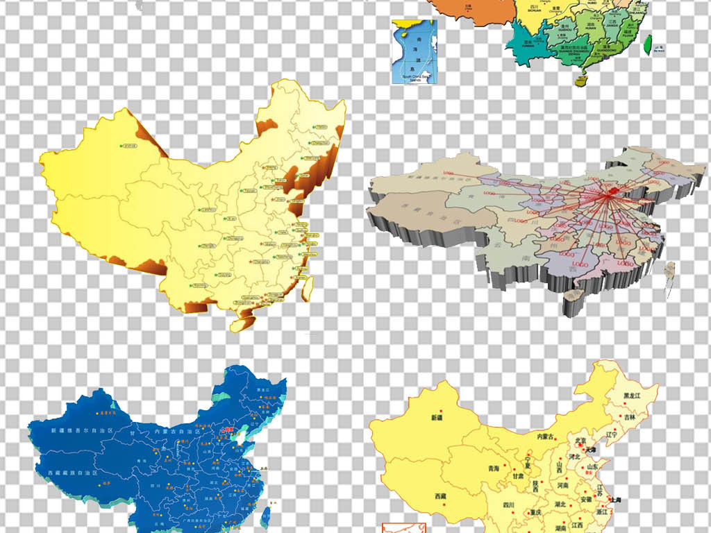 地图png地图图片省份地图卡通地图创意地图手绘地图3d地图立体地图