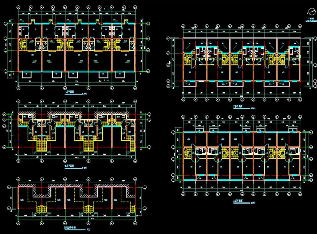 多层住宅楼CAD建筑施工图