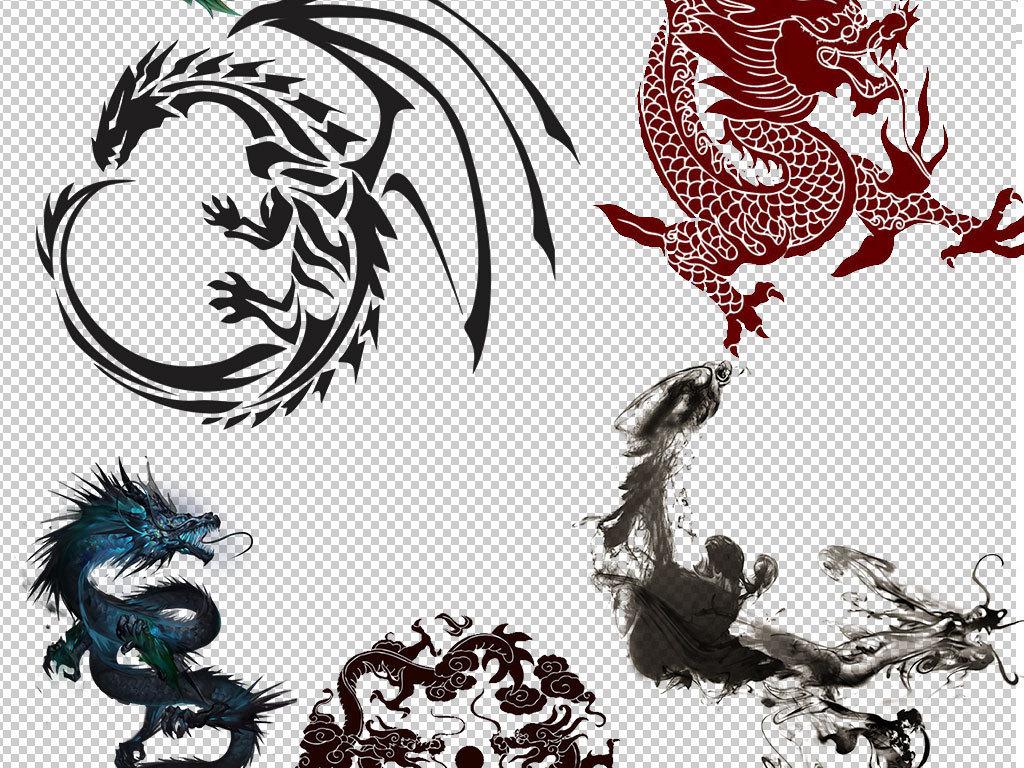 中国真实龙恐龙蝙蝠龙传说动物素材