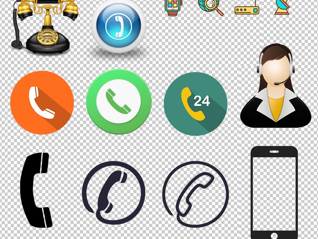 设计作品简介: 50款电话通信录图标png素材 位图, rgb格式高清大图图片