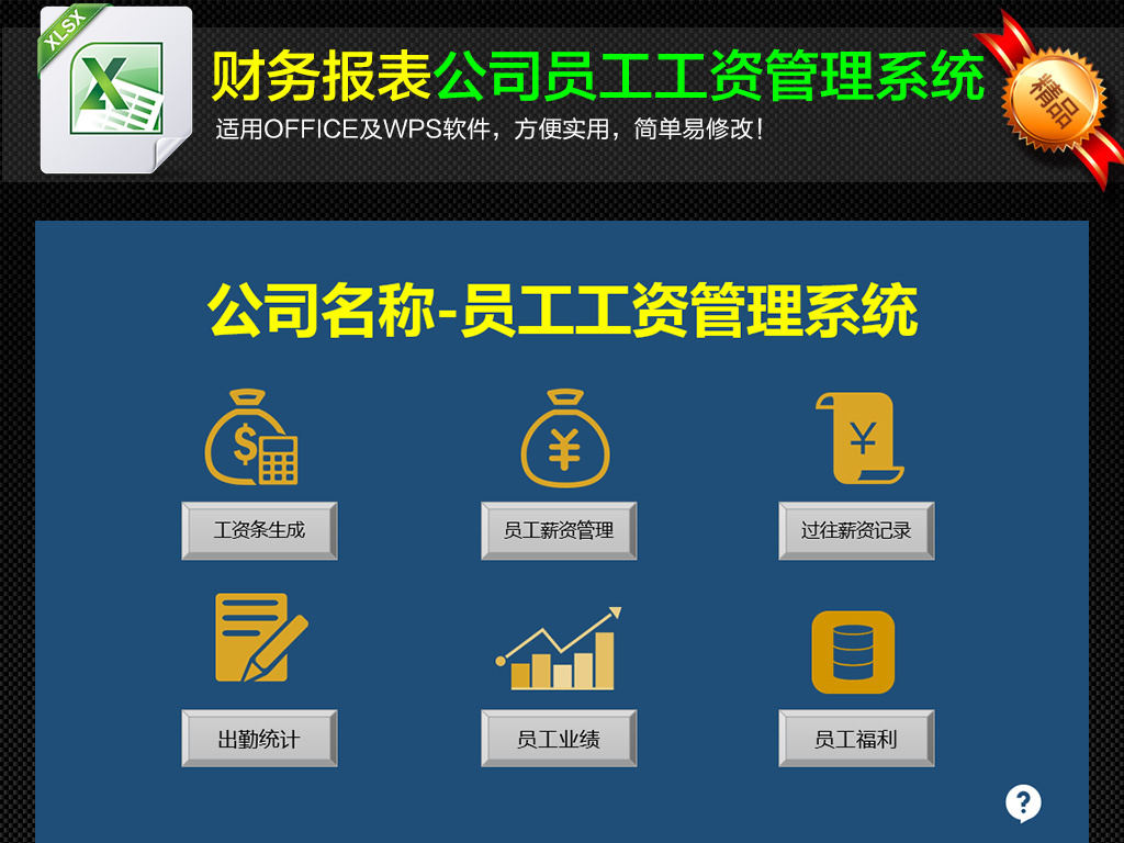 全面详细企业员工薪酬福利工资管理系统表格图片