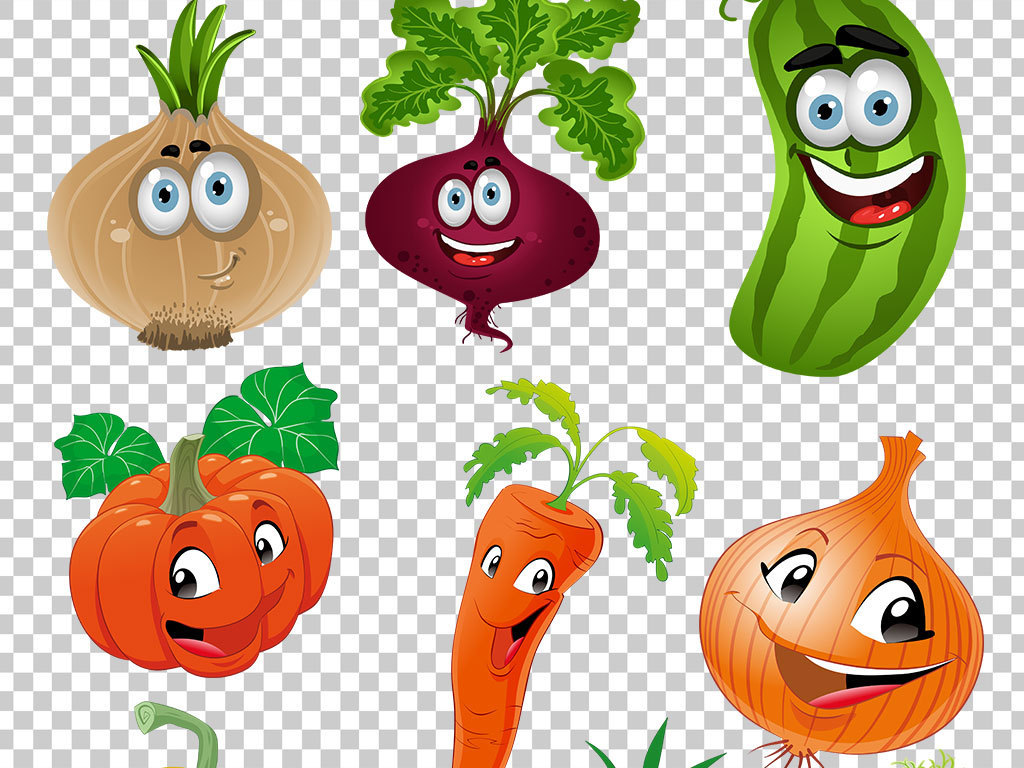 水果卡通素材素材可爱可爱卡通手绘素材表情卡通手绘果蔬卡通表情可爱