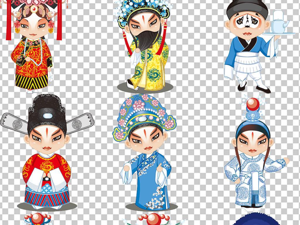 中国风古典京剧人物脸谱png免扣图片