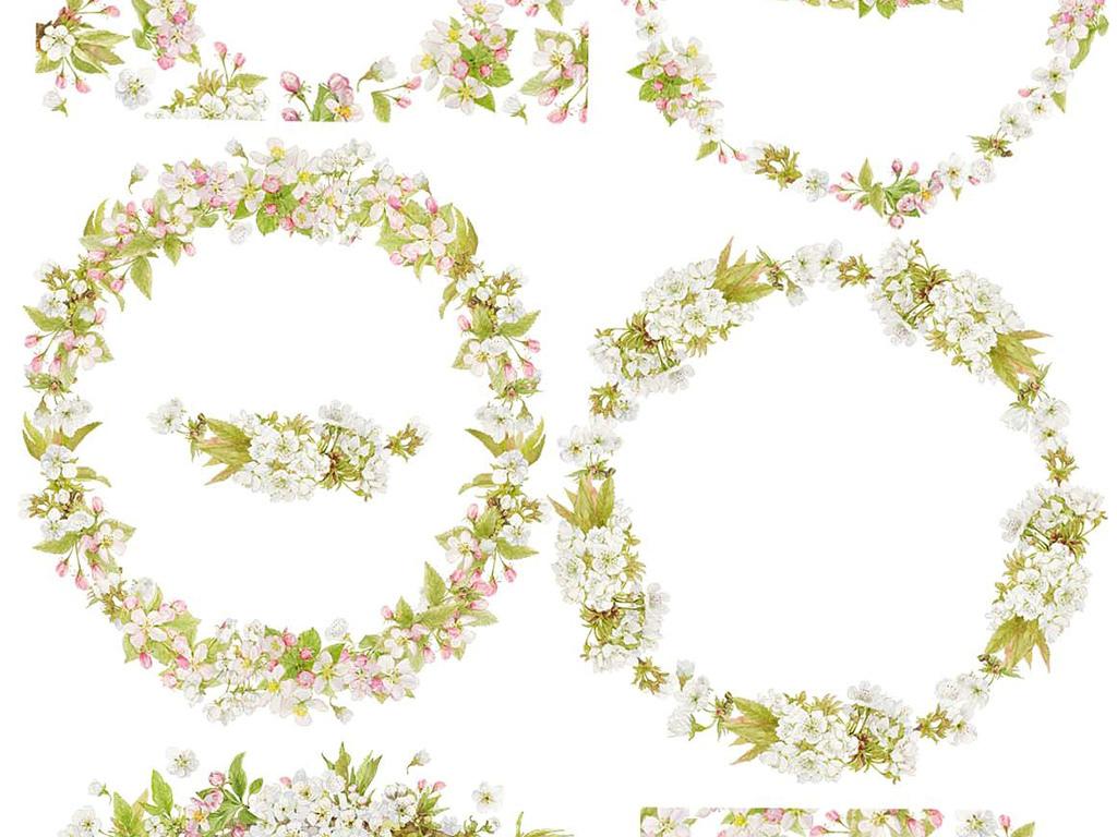 邀请函植物花卉图花卉边框花纹手绘花卉水彩水彩花