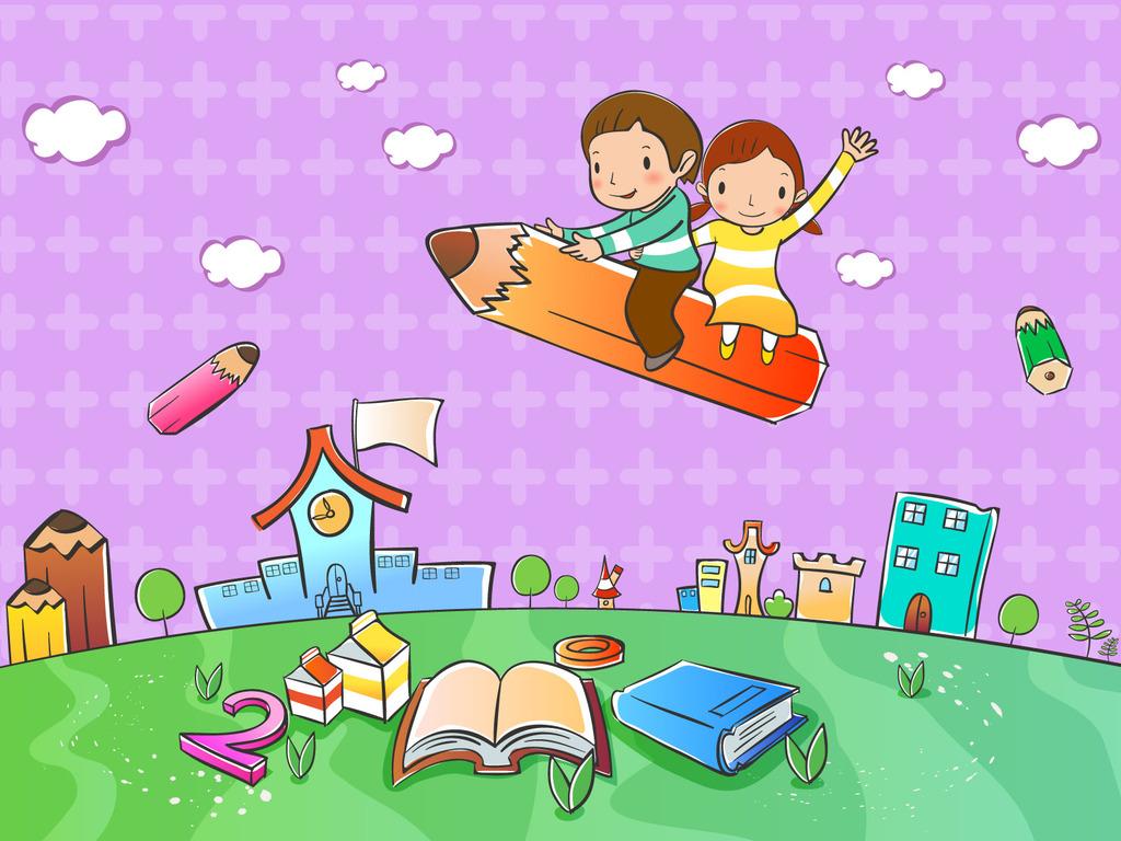 矢量卡通童年喷绘设计素图库101