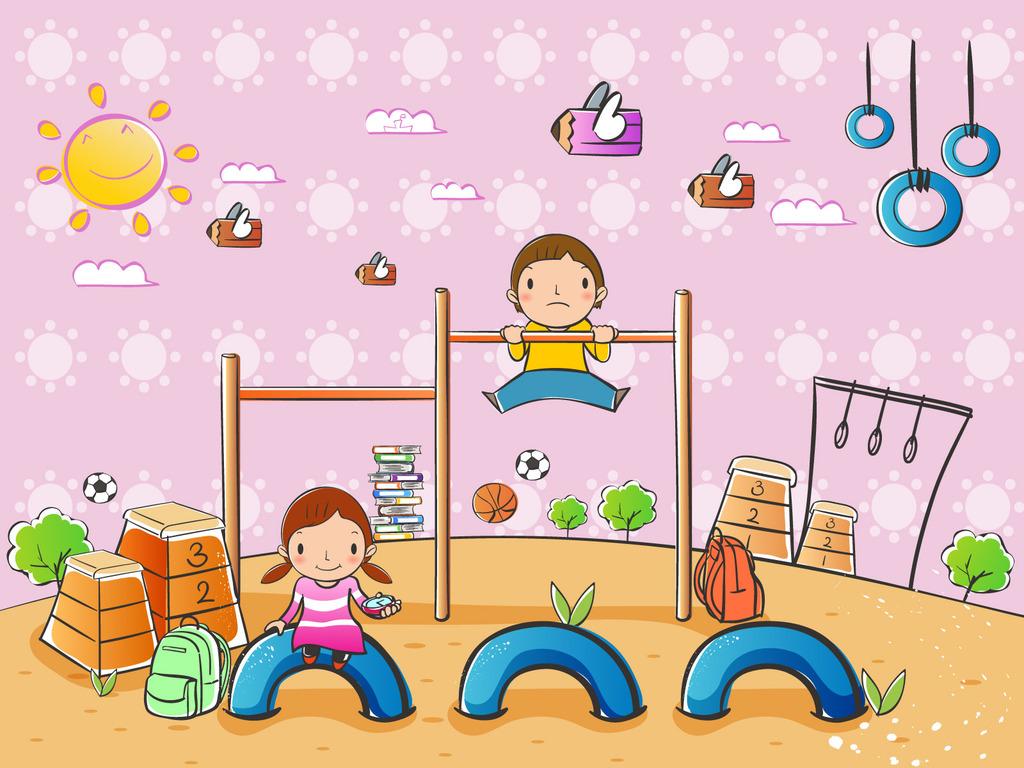 矢量卡通童年喷绘设计素图库106