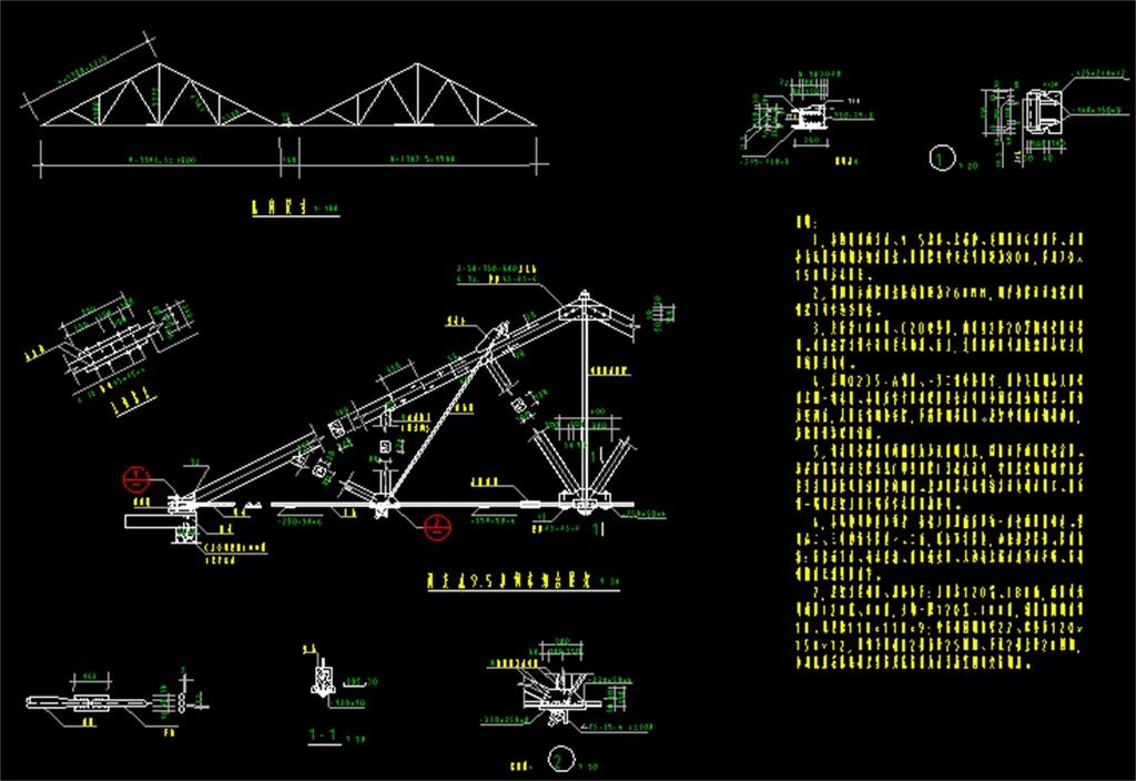 轻钢结构厂房cad设计图平面图下载(图片0.45mb)_cad