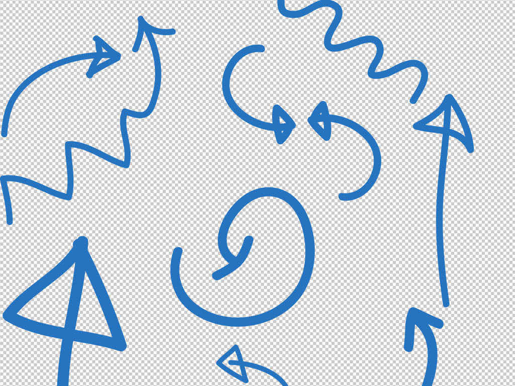 手绘涂鸦箭头设计文字对话框气泡矢量素材