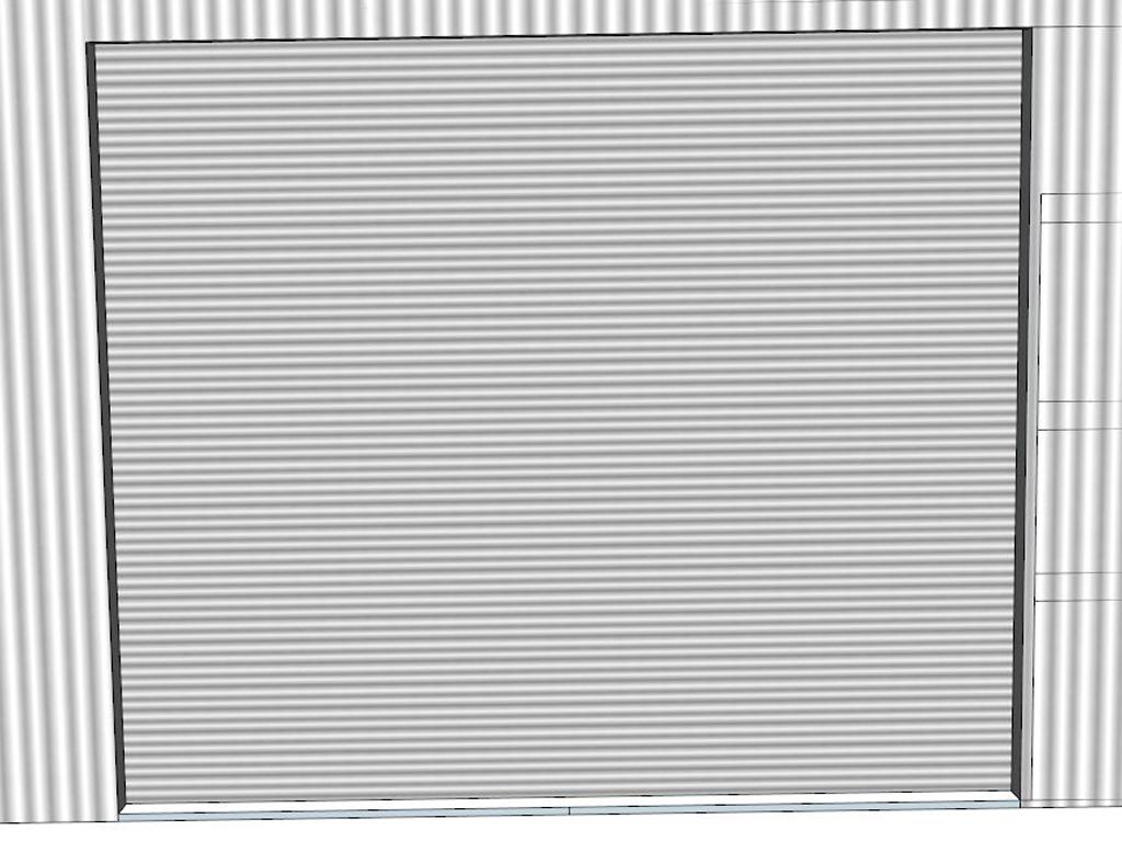钢结构厂房电动卷帘门模型设计图下载(图片0.89mb)_库