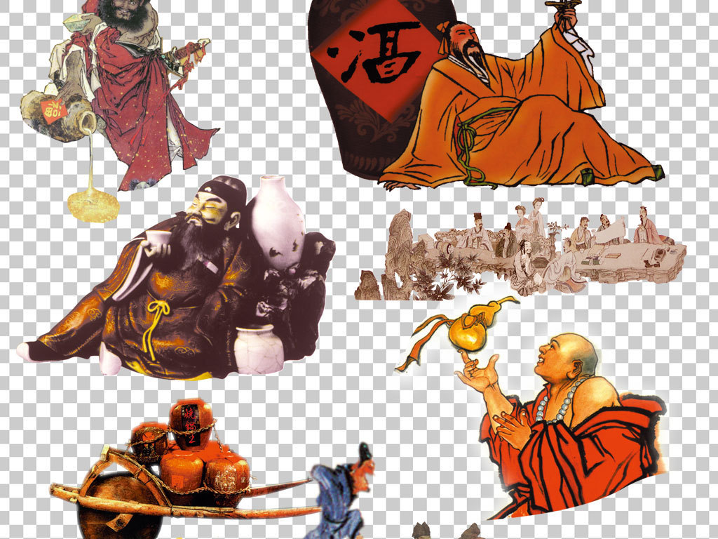 古代人物海报psd素材
