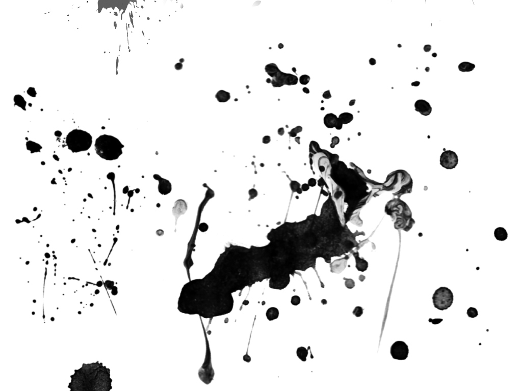 中国风墨迹笔触水墨喷溅效果ps笔刷素材图片