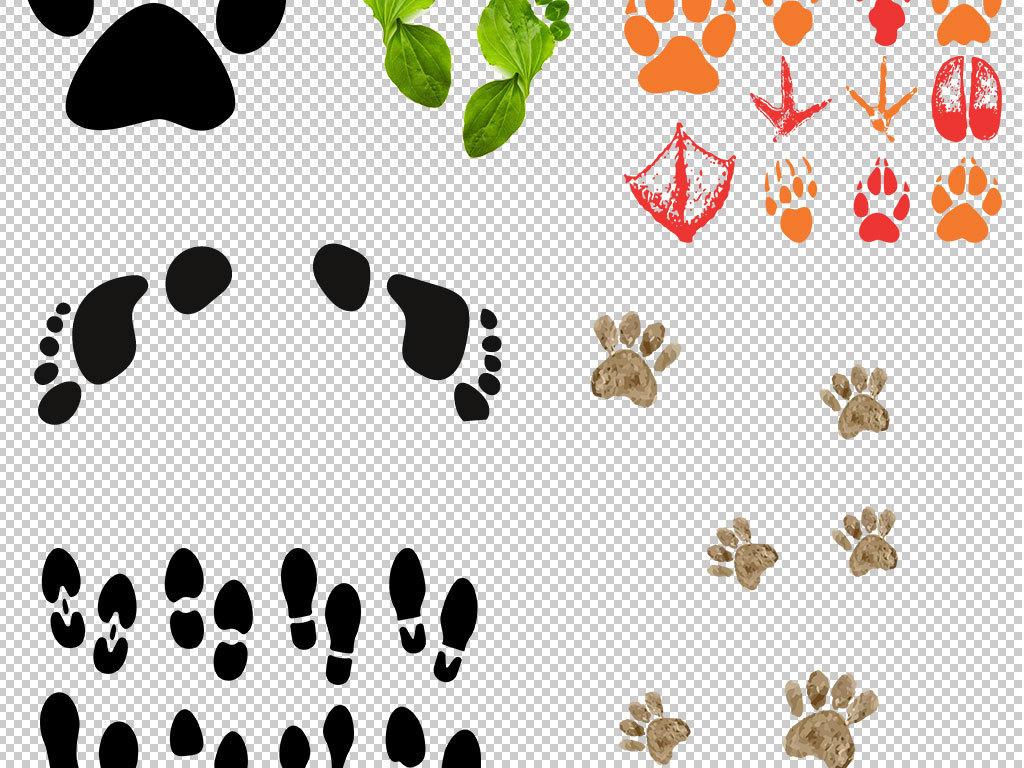 设计元素 其他 效果素材 > 动物脚印人物脚印脚丫鞋印png素材  版权图