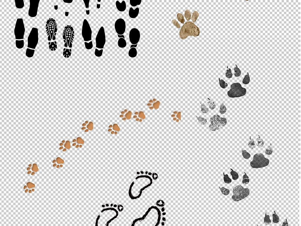 设计元素 其他 效果素材 > 动物脚印人物脚印脚丫鞋印png素材  版权