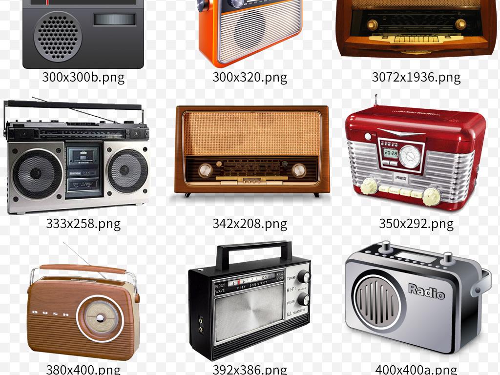 80年代老式复古手绘收音机图片