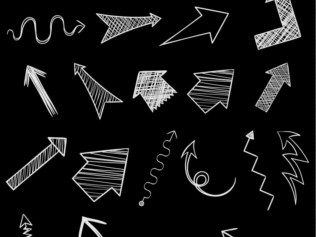 气泡箭头设计素材设计素材手绘素材箭头素材粉笔手绘箭头指示素材集合